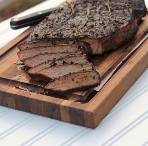 Smoked Top Round Steak