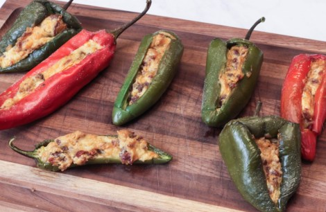 Hickory Smoked Stuffed Peppers