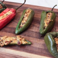 Hickory Smoked Stuffed Peppers for Man Food Mondays