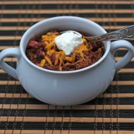 Slow Cooker Shredded Beef Chili for Man Food Mondays