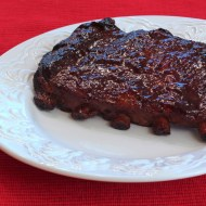 Cherry Smoked Spare Ribs