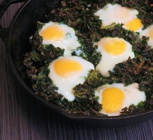 kale and eggs