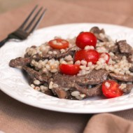 Steak and Barley Salad  for #thesaladbar