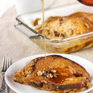 Baked Pumpkin Maple Walnut French Toast