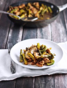 Balsamic Sauted Chicken and Asparagus