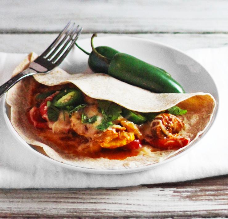 Saucy Chicken Soft Tacos