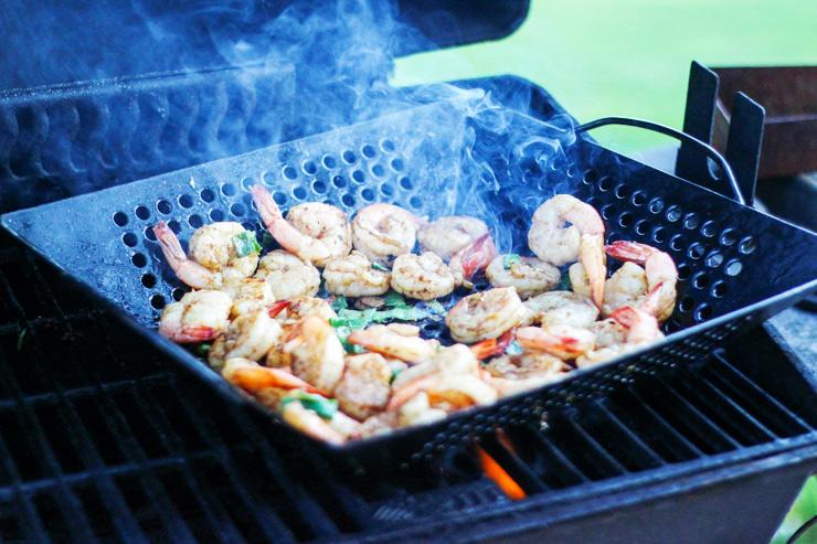 Grilled Shrimp and Vegetables