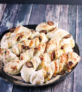 Sausage and Cheese Twisty Bread