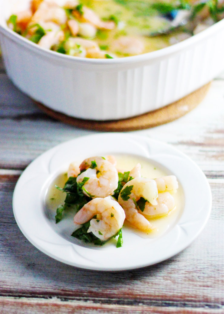 Oven Roasted Shrimp Scampi