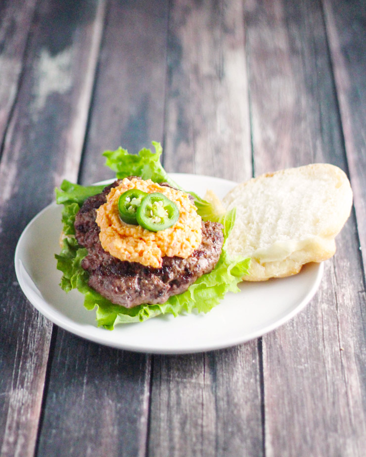 Pimento Cheese and Jalapeno Hamburgers