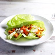 Buffalo Chicken Lettuce Wraps for Man Food Mondays