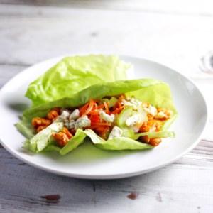 Buffalo Chicken Lettuce Wraps for Man Food Mondays