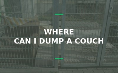 where can I dump a couch