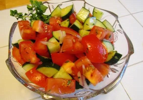 Italian Cucumber Tomato Salad
