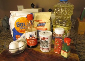 Italian Cookie Ingredients