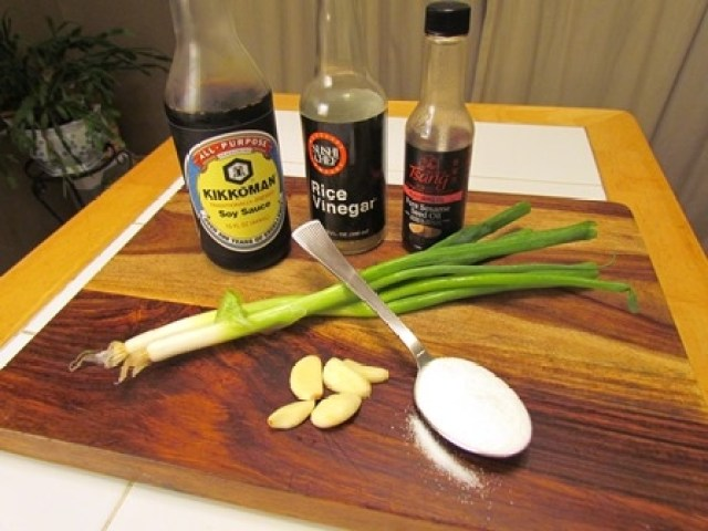 Chinese Style Dumpling Garlic Sauce Ingredients