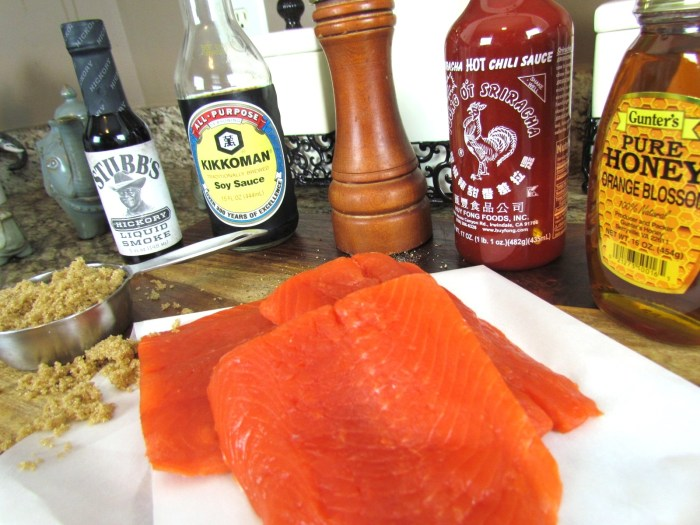 Sriracha Salmon Jerky Ingredients, From Chef To Home