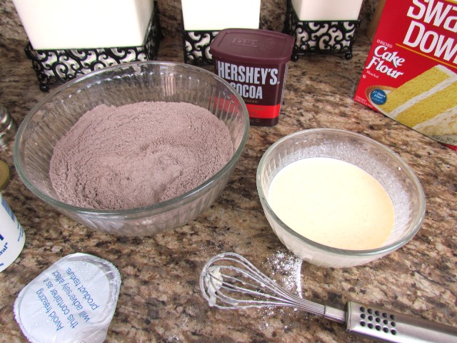 chocolate donut wet and dry ingredients