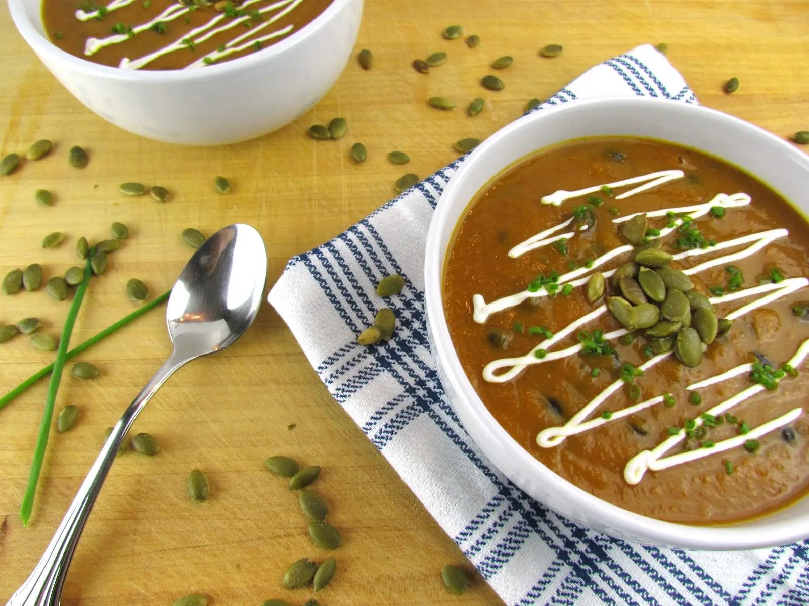 Savory Pumpkin Black Bean Soup
