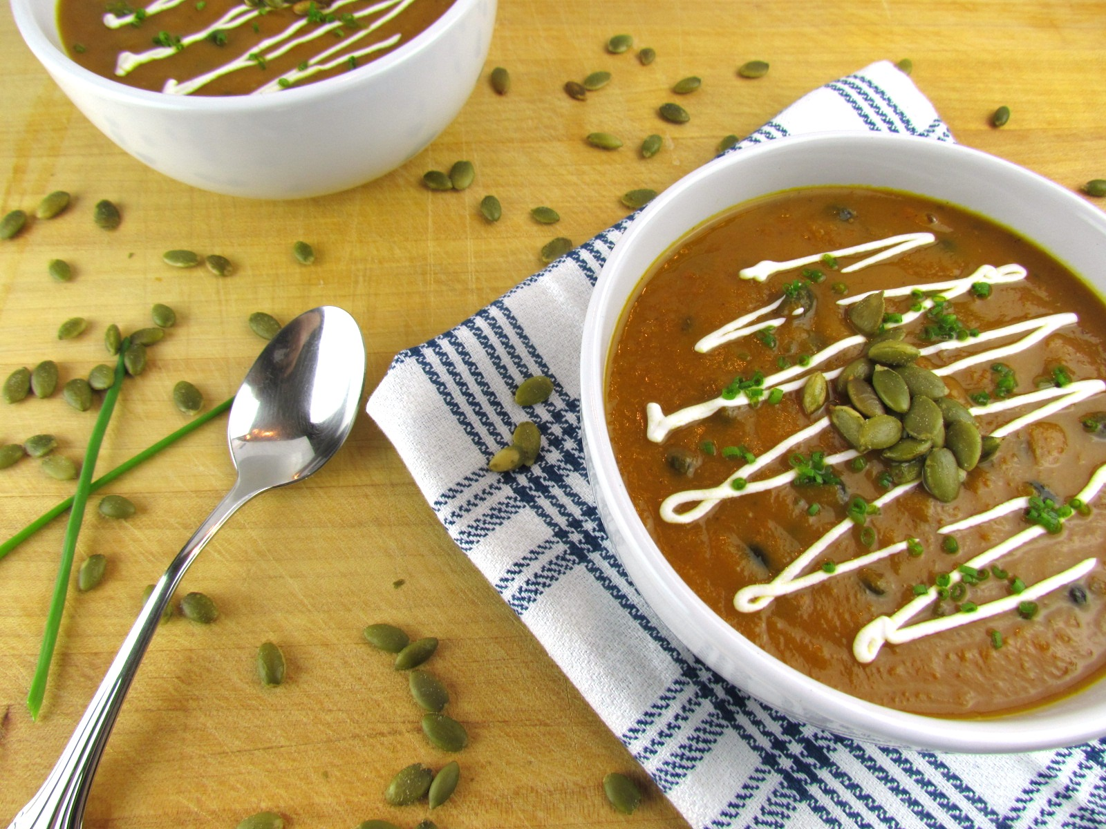 Savory Pumpkin Black Bean Soup