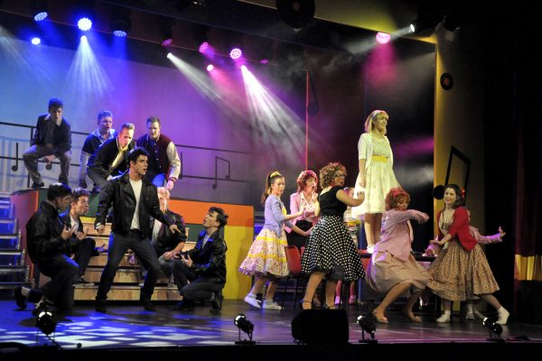 Frome Musical Theatre cast of Grease