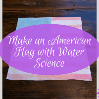 Make an American Flag Using Water Science Experiments