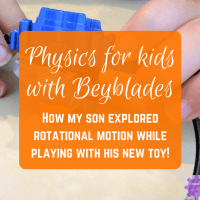 Physics for kids with Beyblades