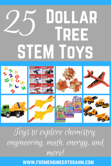 STEM Dollar Tree Toys | Inexpensive STEM Toys | 25 STEM toys that will not blow your budget!