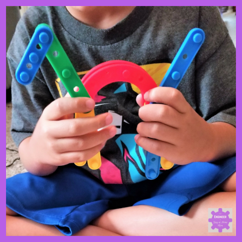 The perfect building STEM toy for preschoolers. When my son didn't take to the typical building toys, he easily took to building with the Jarrby STEM toy.