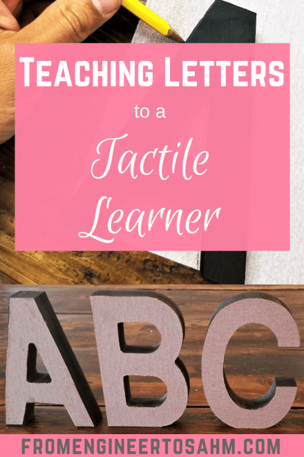 Easy to make DIY Letters for the Tactile Learners in your class! I made these letters for my preschool class, and they were a hit!
