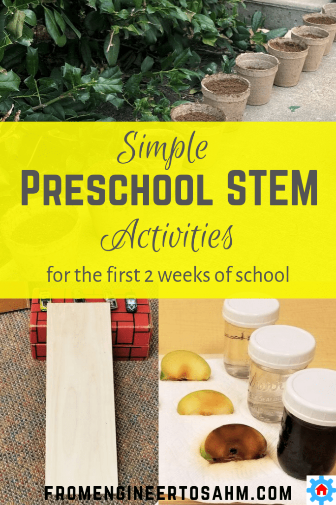 The first weeks of preschool can be hectic. These STEM preschool activities were perfect for our first two weeks of school!