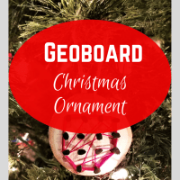 Geoboard Christmas Ornament STEM Activity