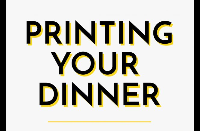 printing your dinner personalization