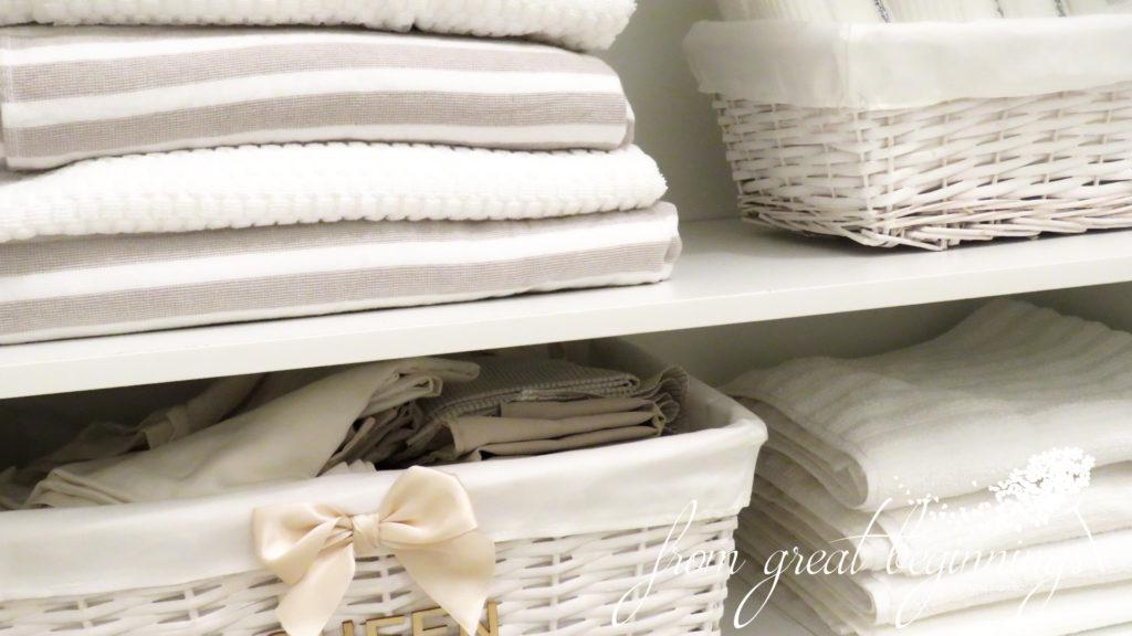Linen Closet Organisation - Guest Bathroom