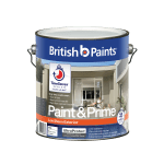 British Paints White Low Sheen Paint and Prime Exterior