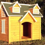 Dog castle kennel with window
