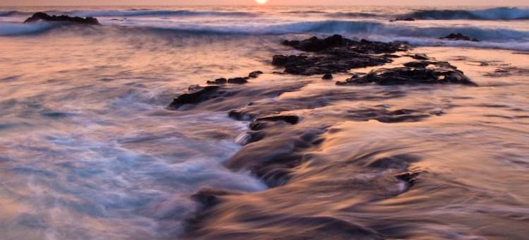 Hawaii sunset from Kona near the Airport