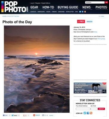Photo of the day for Popular Photography Magazine