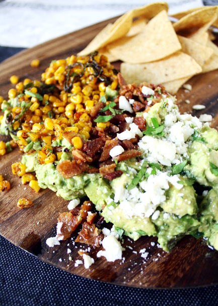 Bacon Sweet Corn Guacamole