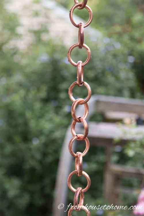 copper ring diy rain chain