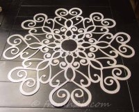 How To Make A Beautiful Ceiling Medallion On A Budget