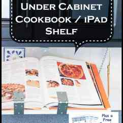 Kitchen Cabinet Makeovers Flooring Options For Diy Under Cookbook Or Ipad Shelf