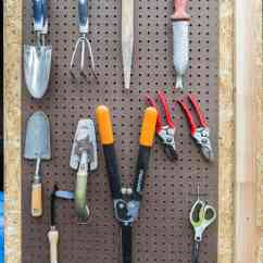 Kitchen Tool Crock Ceiling Lights 8 Easy And Inexpensive Ways To Organize Garden Tools