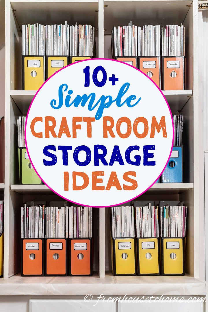 Sewing And Craft Room Organization And Storage Ideas For Small Spaces