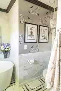 Eclectic, Deco, Glam Master Bathroom Makeover