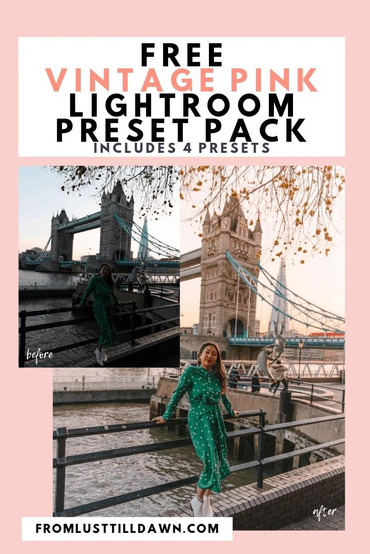 FREE Vintage Lightroom Presets • Lust 'Till Dawn