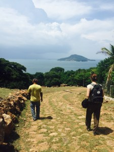 Our guide through the farm and jungle, plus the awesome view from Taboga.