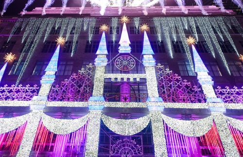 Saks Light Display 2017