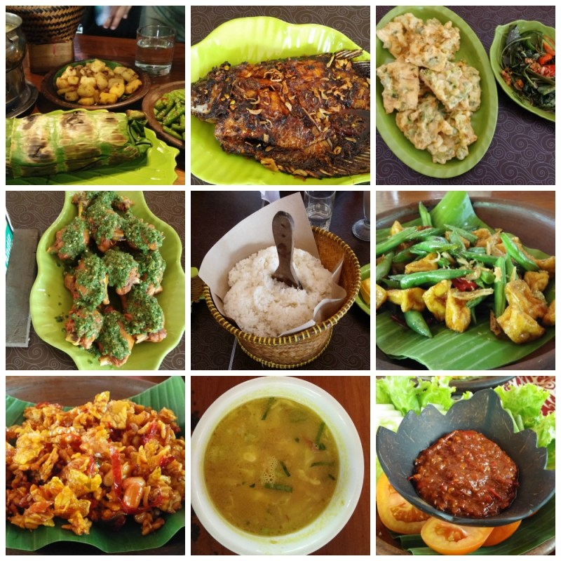 Some of the delicious food we feasted on in Bandung.
