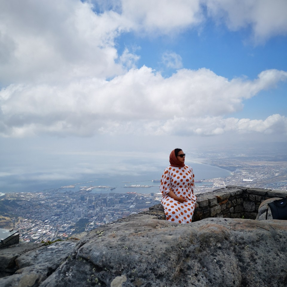 Aneeqah on top of Table Mountain